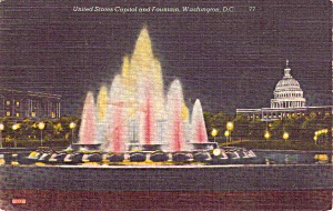 Us Capitol And Fountain Washington Dc P38465
