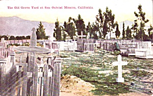 California Mission San Gabriel The Old Graveyard P38512