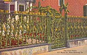 New Orleans La The Corn Fence P38549