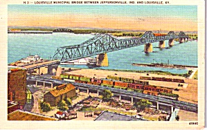 Louisville Ky Municipal Bridge To Jeffersonville In P38579
