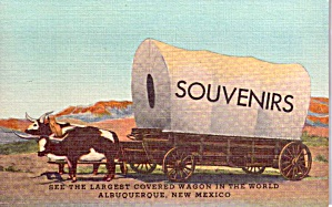 Albuquerque NM World s Largest Covered Wagon p38582 (Image1)