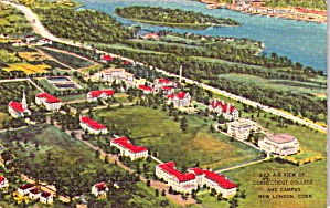 New London CT Connecticut College and Campus Aerial View p38583 (Image1)