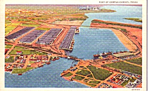 Port Of Corpus Christi Tx Aerial View P38591