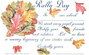 Rally Day Sunday School Postcard p3859 1910 (Image1)