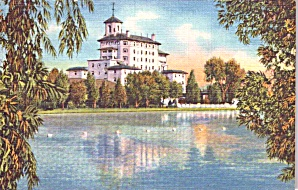 Colorado Springs Co Broadmoor Hotel From Lake P38602
