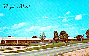 Geneseo IL The Royal Motel Postcard p38708 (Image1)