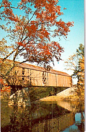 Covered Bridge Location Not Specified Postcard P38718