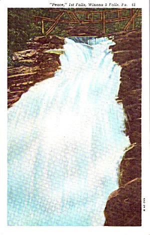 Winona 5 Falls PA 1st Falls Postcard p38736 (Image1)
