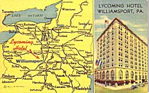 Williamsport PA Lycoming Hotel  p38763 (Image1)