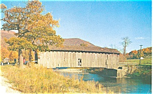 West Arlington VT Covered Bridge Postcard (Image1)