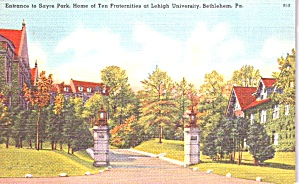 Bethlehem Pa-entrance Sayre Park Leigh University P38791