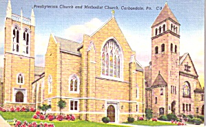 Carbondale PA Presbyterian and Methodist Church p38799 (Image1)