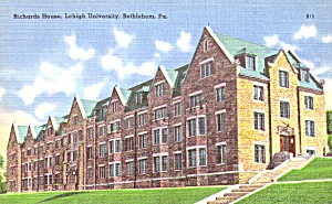 Bethlehem Pa Lehigh University Richards House P38813