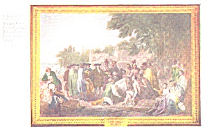 Postcard Of Benjamin West S Painting Wm Penn S Indian Treaty P38822