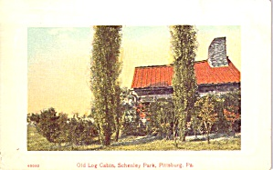Schenley Park Pittsburgh Pa Old Log Cabin P38839
