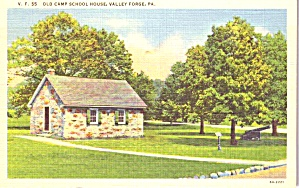 Valley Forge Pa Old Camp School House P38840