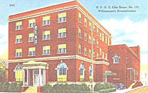 Williamsport Pa Bpoe Elks Home No 173 P38843