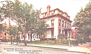 Rock Island Ilsupreme Office Royal Neighbors Of America P38883