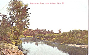 Gibson City Il Sangammon River P38885