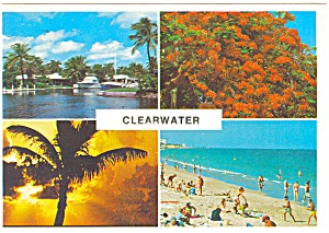 Clearwater Florida Multi View Postcard p3891 (Image1)