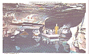 Howe Caverns New York Underground Boating Natural Pillar p38997 (Image1)