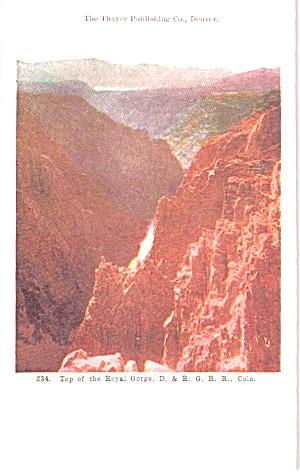 Royal Gorge CO D R G RR Postcard p39085 (Image1)