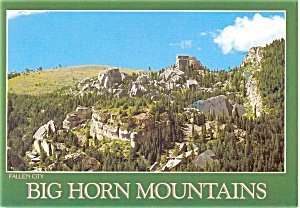 Big Horn Mountains WY Postcard p3909 (Image1)
