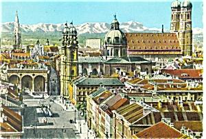 Munich Germany St Cajetan s Church Postcard p3912 (Image1)