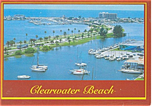 Clearwater Beach in Florida Postcard p3913 (Image1)