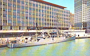 Chicago Il Chicago Sun Times Building Us Navy Ship P39194