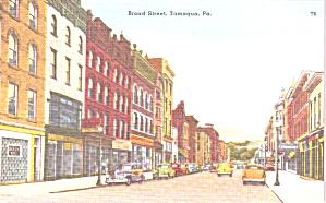 Tamaqua PA Broad Street Vintage Cars  p39221 (Image1)