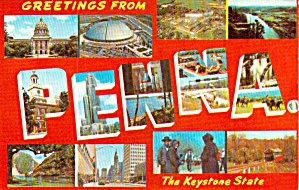 Big Letter Postcard Pennsylvania P39262
