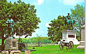 Gettysburg Military Park Stautes of Generals Buford and Reynolds  p39299 (Image1)