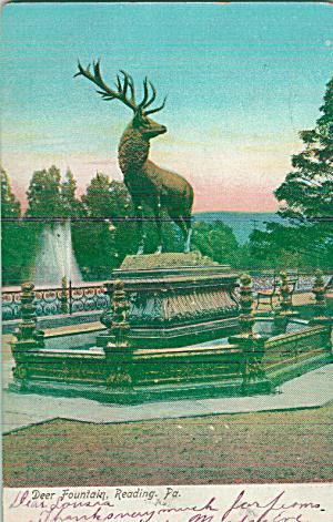 Reading PA Deer Fountain P39603 (Image1)