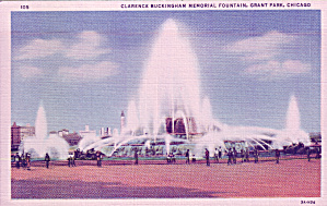 Chicago Il Grant Park Buckingham Fountain P39763
