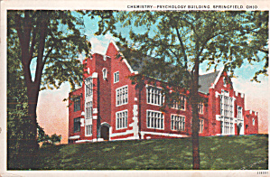 Springfield Ohio Chemistry Psychology Building P39835