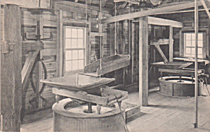 Westmoreland County Virginia Stratford Hall Grist Mill Interior P39223