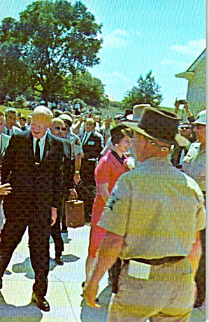 Dwight D Eisenhower And Mamie At Herbert Hoover Birthplace P40058