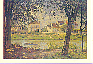 Village on the Banks of the Seine Alfred Sisley Postcard cs4014 (Image1)