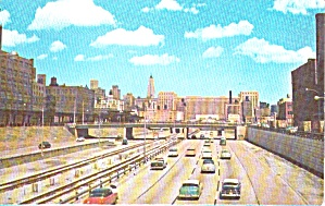 Chicago Il East On Congress Street Expressway P40171