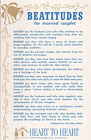 Beatitudes for Married Couples  Adapted by Ella May Miller P40209 (Image1)