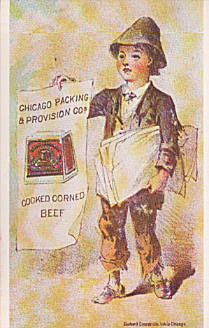 Repro Of Trade Card Chicago Packing And Provision Co Postcard P40222