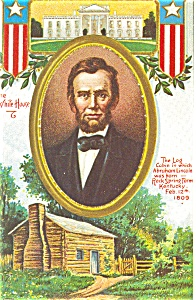Abe Lincoln Presidents Day Postcard p4022 (Image1)