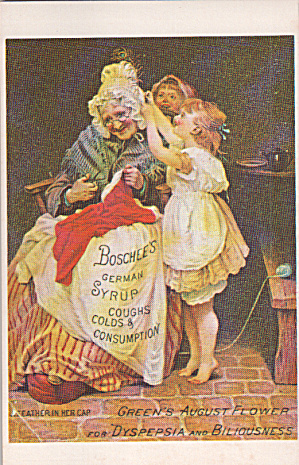 Repro Of Trade Cardboschsss German Syruo Coughs Colds Postcard P40237