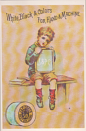 Repro Of Trade Card J And P Coats Thread Postcard P40245