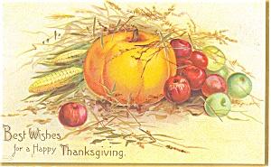Clapsaddle Thanksgiving Pumpkin Postcard p4025 (Image1)