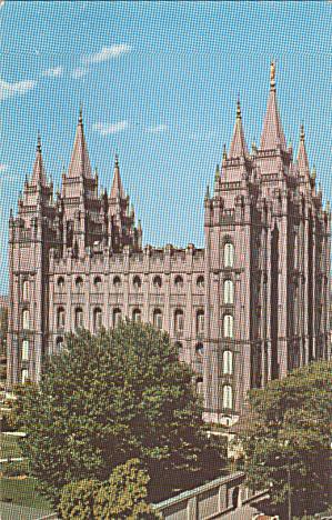 Salt Lake City Utah Mormon Temple Postcard P40273 (Image1)