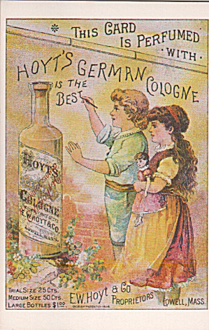 Repro Of Trade Card Hoyt S German Cologne Postcard P40283