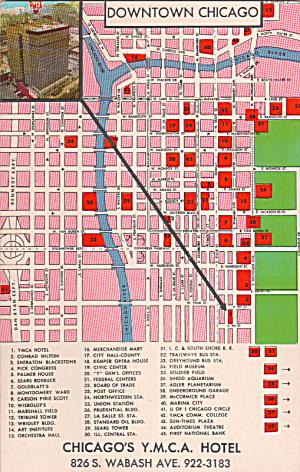 Chicago IL Y M C A Hotel Postcard  P40314 (Image1)