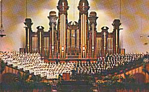 Salt Lake City UT Mormon Tabernacle Choir Postcard P40392 (Image1)